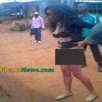 Female University Student Goes Mad and Stripped In Public