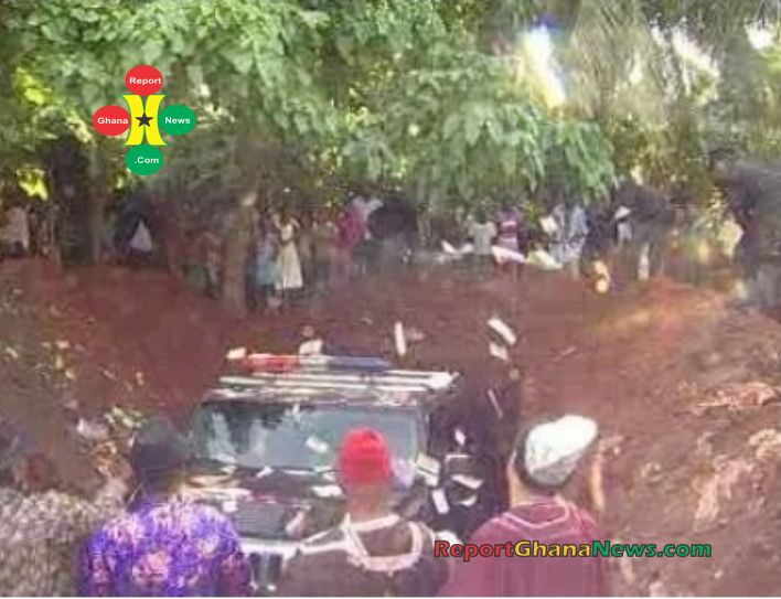 Rich Nigerian Man Buried With His Expensive Hummer Jeep