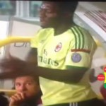 Watch Video: Muntari Goes Crazy Again!! Disrespects AC Milan Jersey After Substitution