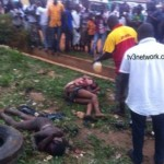 Suspected Robbers Burnt To Death in Kumasi (More Photos)
