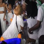 Watch Video: Afia Schwarzenegger Kisses YFM Presenter at DJ Mensah's Party