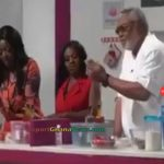 Watch Video: Ex – President Jerry John Rawlings Cooking and Dancing on Live TV