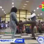 Watch Video: Bishop Obinim Spiritually Brings Out Passport From His Shoes