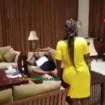 Watch Video: Bishop Obinim Chilling With Wife at a Hotel in Dubai