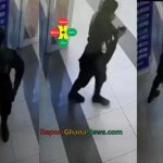 Watch Video: Ghana Policeman Caught on CCTV Stealing Mobile Phone At Marina Mall