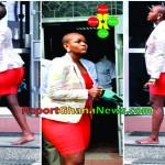 Fashion Police: Beautiful Lady Walking the on Street Barefoot