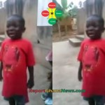 Watch Video: Hillarious Kid Reciting The Ghana National Anthem