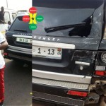 Funny Face Involved In An Accident – Range Rover Damaged