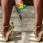 Fashion Police: Is This Lady Trying To Break Her Legs With A High Heels Shoe?