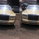 Asamoah Gyan Arrives in Accra With His Golden Rolls Royce (More Photos)
