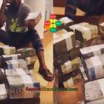 Watch Video: Nana Boroo Flaunts Bundles of Money in a Room